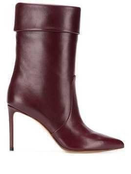 Francesco Russo pointed toe boots - Red