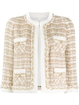 Edward Achour Paris embroidered fitted jacket - Brown