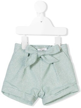 Chloé Kids metallic striped shorts - Blue
