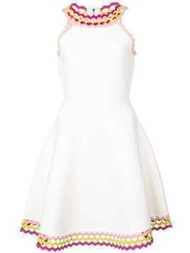 Milly flared mini dress - White