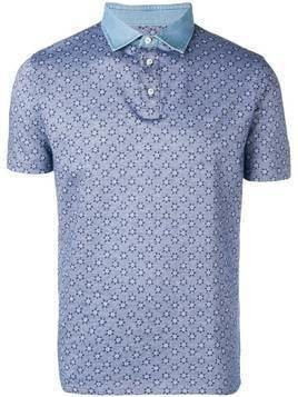 Borrelli patterned polo shirt - Blue