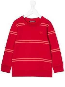 Acne Studios Kids Mini Fairview striped sweatshirt - Red
