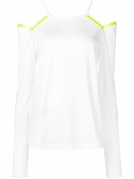 Maison Margiela cut-out long-sleeved T-shirt - White