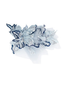 Mischka Aoki sequin embellished hair clip - Blue