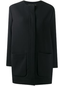 Gianluca Capannolo collarless mid-length coat - Black