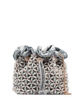 Sophia Webster Emmie embellished pouch bag - Blue