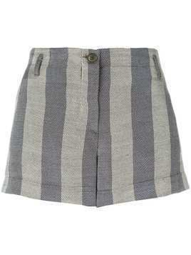 Giorgio Armani Pre-Owned striped mini shorts - Grey