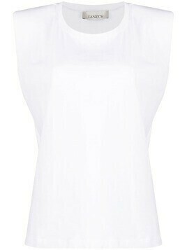 Laneus padded-shoulder tank top - White