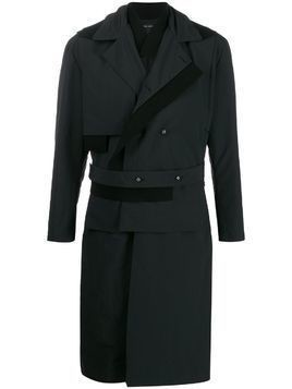Craig Green structured raincoat - Black