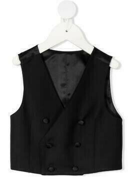 Dolce & Gabbana Kids double-breasted waistcoat - Black