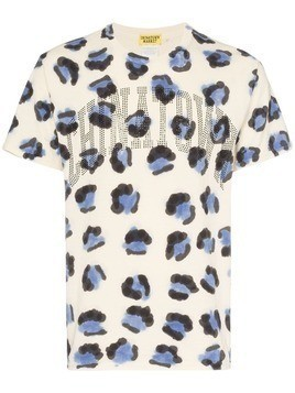 Chinatown Market jaguar print logo T-shirt - Multicoloured