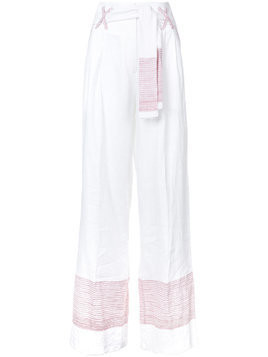 Gül Hürgel high-waisted wide leg trousers - White
