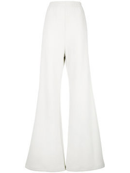 Mm6 Maison Margiela ribbed wide leg trousers - White