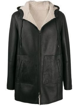 Desa 1972 shearling-lined leather jacket - Black