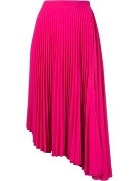 Markus Lupfer asymmetric pleated skirt - Pink