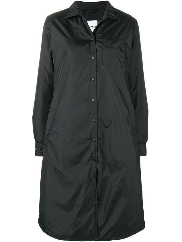 Aspesi snap button overcoat - Black