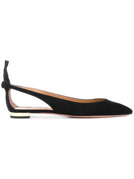 Aquazzura bow detail ballerina shoes - Black