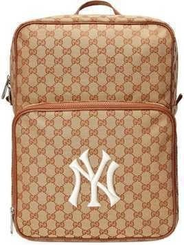 08b53cecf7c15 Gucci Medium backpack with NY Yankees™ patch - Brown