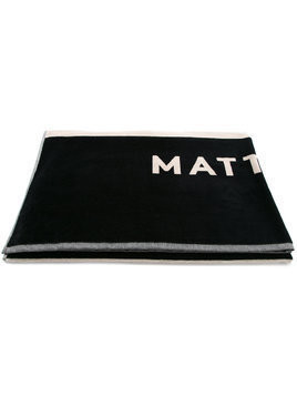 Matteau oversized jacquard beach towel - Blue