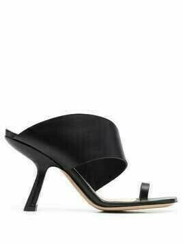 Nicholas Kirkwood Brasilia 90mm leather mules - Black