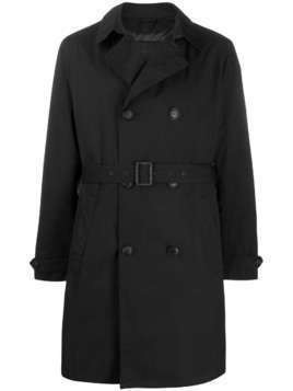 Emporio Armani padded trench coat - Black