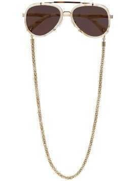 Lucy Folk Brown Frequent Flyer aviator sunglasses - Neutrals