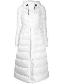 Mackage long belted puffer jacket - White