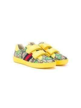 Gucci Kids GG Smiling Plants sneakers - Yellow