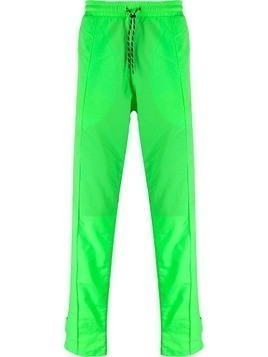 Andrea Crews piped seam track pants - Green