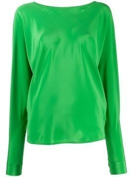 Indress boat neck blouse - Green
