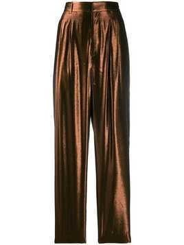 Indress tapered metallic trousers - Brown