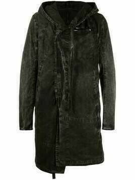 Masnada button-up hooded coat - Black