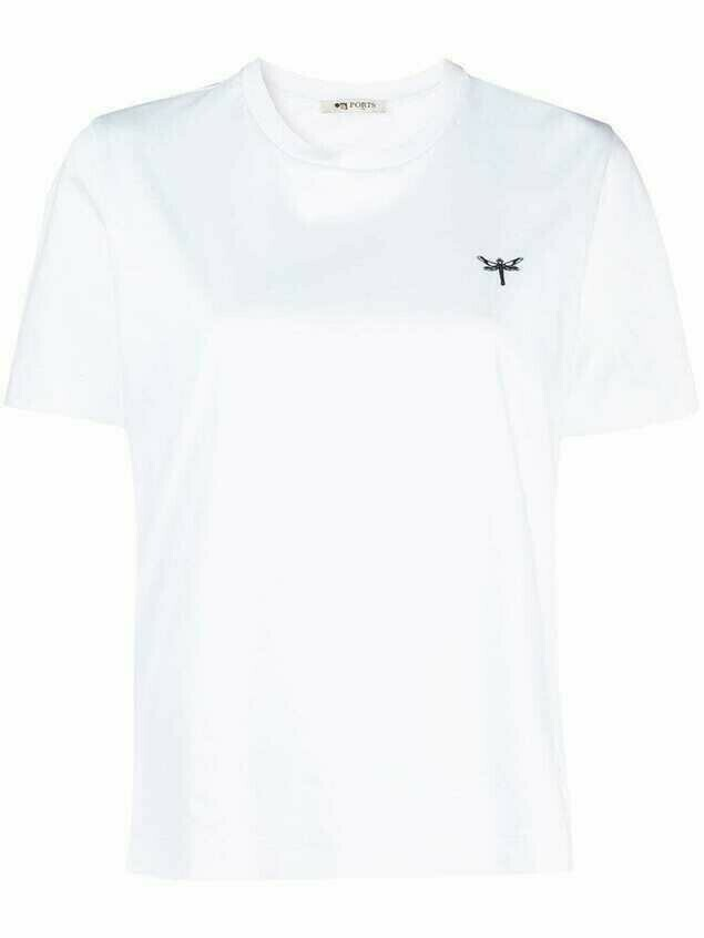 Ports 1961 dragonfly crew neck T-shirt - White