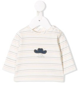 Knot 'Happy Cowboy' jersey top - White