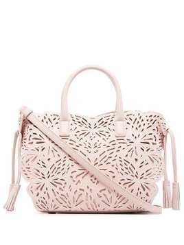 Sophia Webster mini Liara lasercut-butterfly tote - Pink