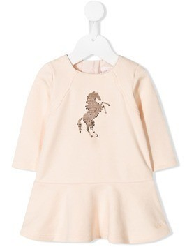 Chloé Kids sequin horse dress - Pink