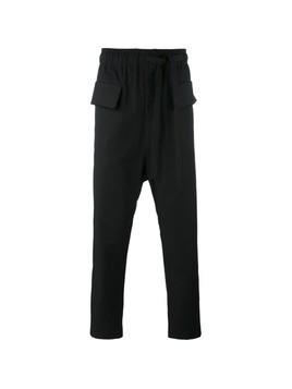 Damir Doma drop-crotch cropped trousers - Black