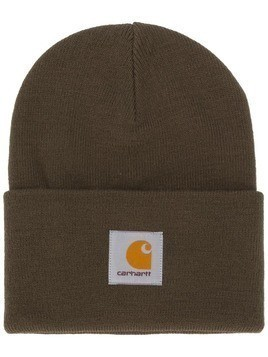 Carhartt WIP logo patch beanie - Green