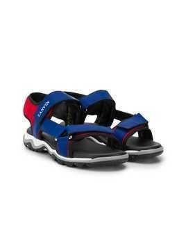 LANVIN Enfant logo strap sandals - Blue