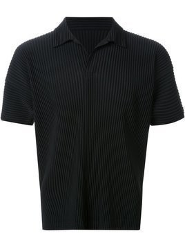 Homme Plissé Issey Miyake pleated polo shirt - Black
