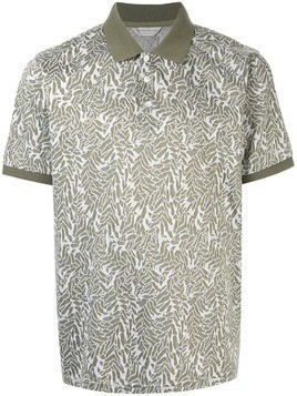 Gieves & Hawkes patterned polo shirt - Green