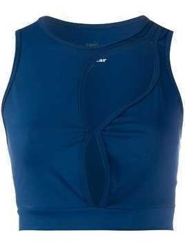 Esteban Cortazar cut-out tank top - Blue