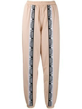 Adidas logo tape track pants - Neutrals