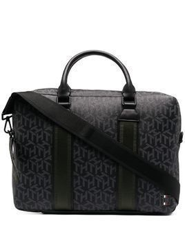 Tommy Hilfiger monogram-print laptop bag - Black