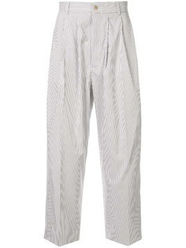 Hed Mayner pleated waist trousers - White