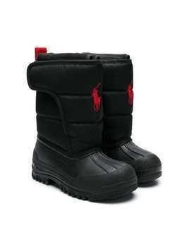 Ralph Lauren Kids logo embroidered boots - Black