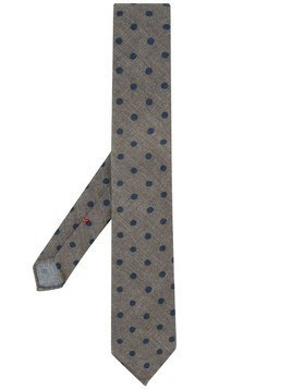 Dell'oglio polka dot print tie - Green