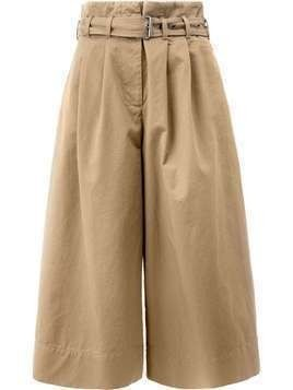 Maison Margiela cropped wide leg trousers - Brown