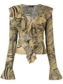 De La Vali ruffled printed top - Brown