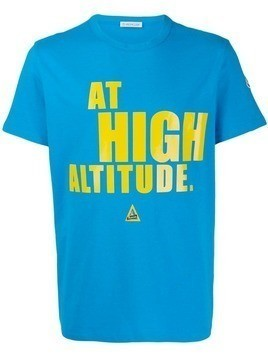 "Moncler ""at high altitude"" print T-shirt - Blue"